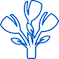 blue flower arrangement icon